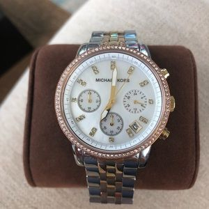 Brand New Michael Kors Tri-Tone watch